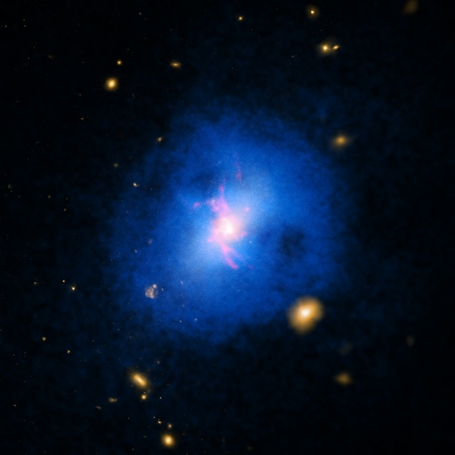 Abell 2597 is a galaxy cluster located about one billion light years from Earth.