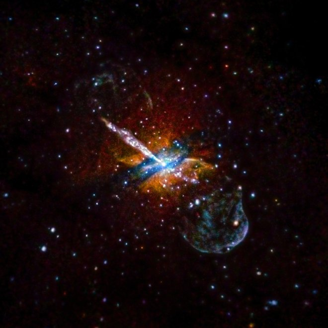 Centaurus A Galaxy is 12 million light years from Earth
