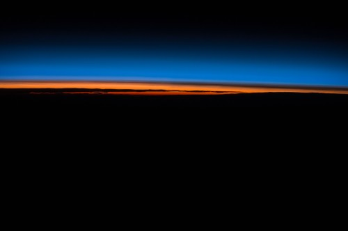 Crew members of Expedition 43 captured sunset in space