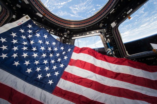 American Flag in Space