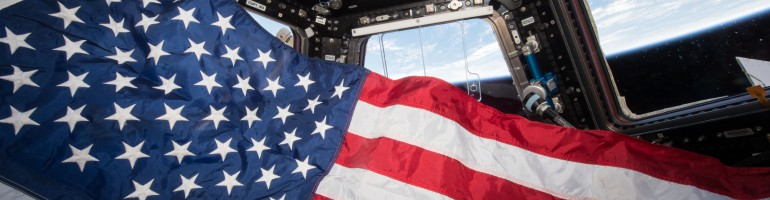American Flag in Space