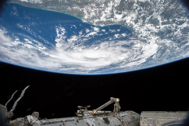 Expedition 44 crew captured Earth from space.