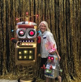 Baylor White Scott booth Robots